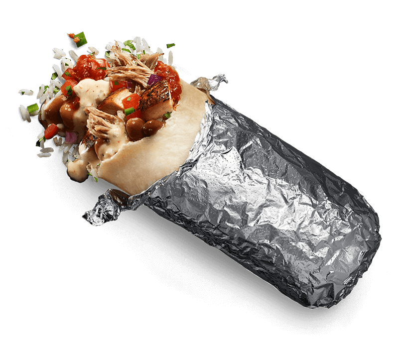 burrito with a bite out of it